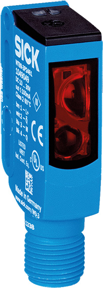 Background suppression sick photoelectric sensor 20 - 350 mm detection range,PNP output, block style