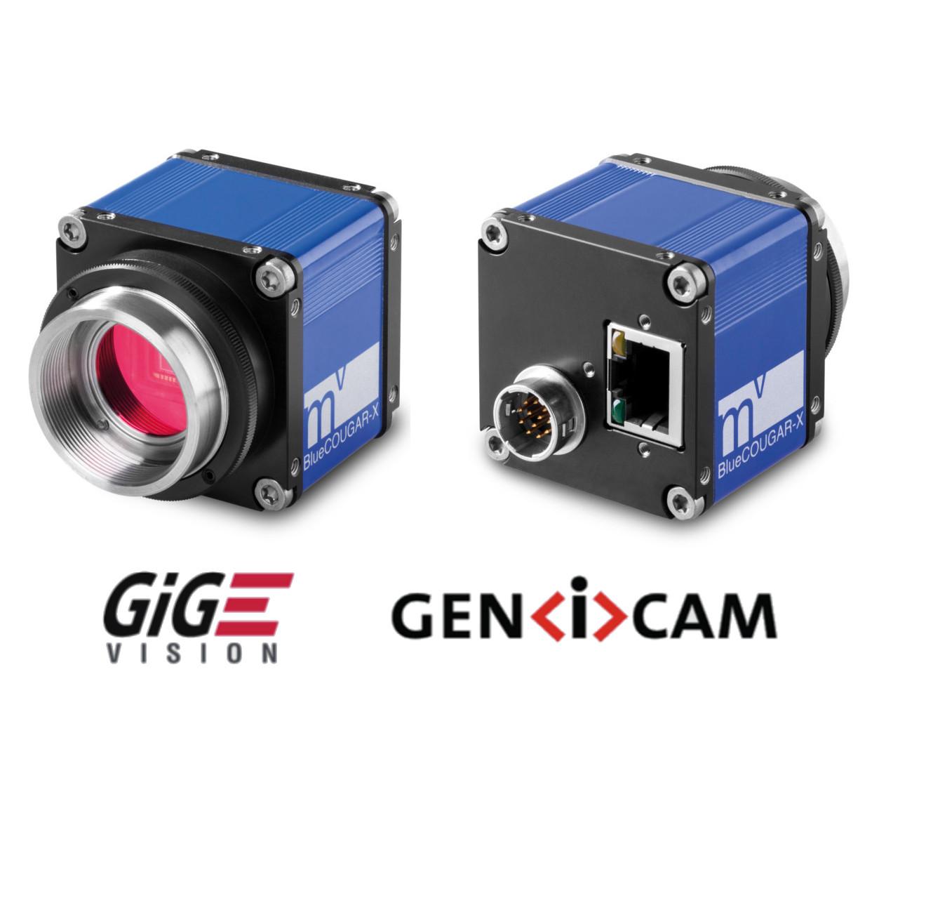 """CMOS camera GIGE, 1280 x 1024 color, 1/1.8"""", 60 Hz, IR cut, C-mount, I/O"""
