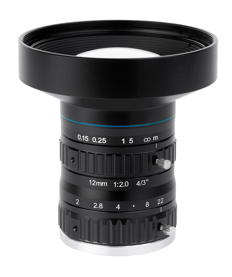 10 Megapixel fixed focal length lenses for sensors up to 4/3""