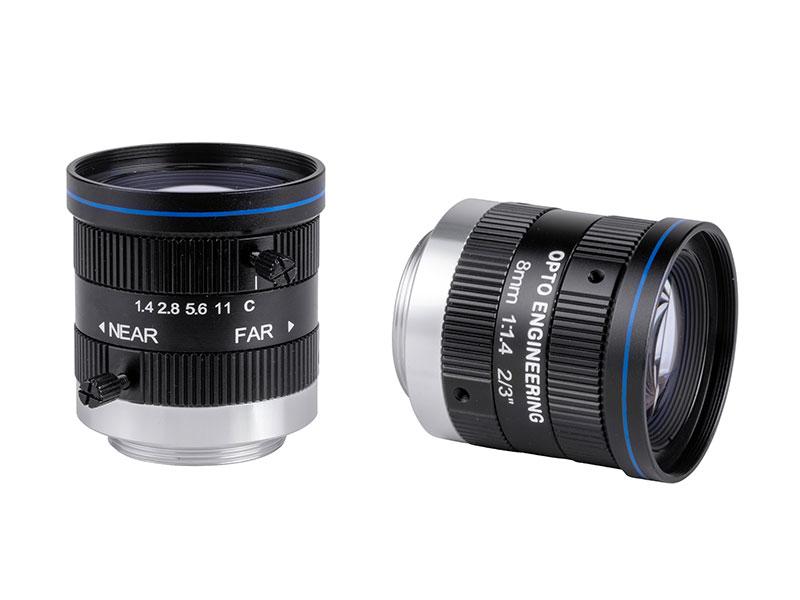 Fixed focal 2 Megapixel lens, focal length 8 mm, f# 1.4 - C, C-mount