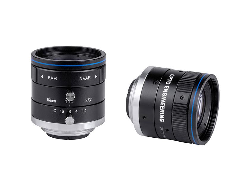 Fixed focal 2 Megapixel lens, focal length 16 mm, f# 1.4 - 22, C-mount