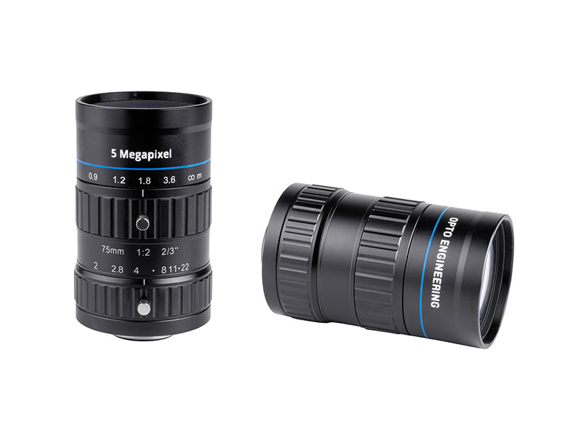 Fixed focal 2 Megapixel lens, focal length 75 mm, f# 2.8 - C, C-mount