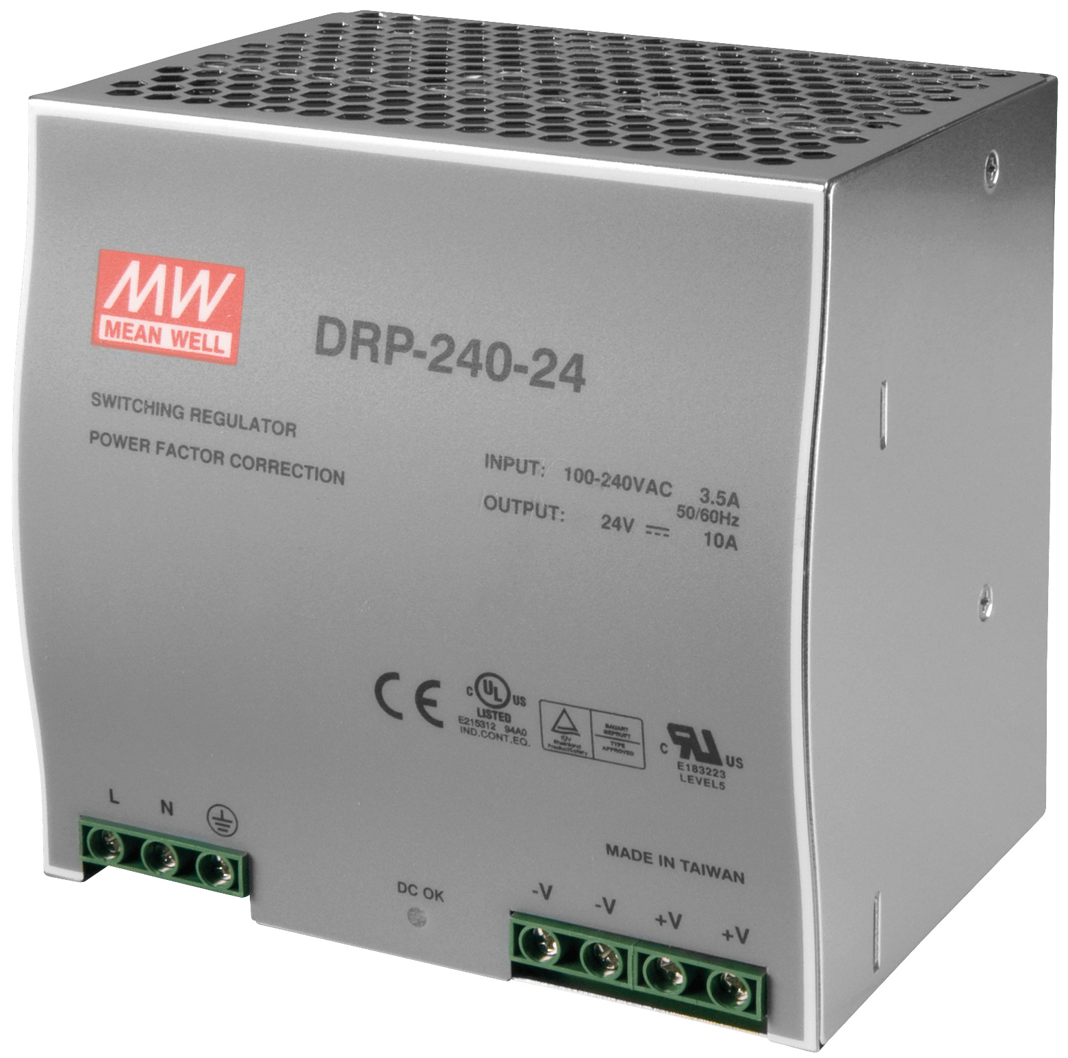 DIN rail power supply 240V ac - 24V dc 240 W