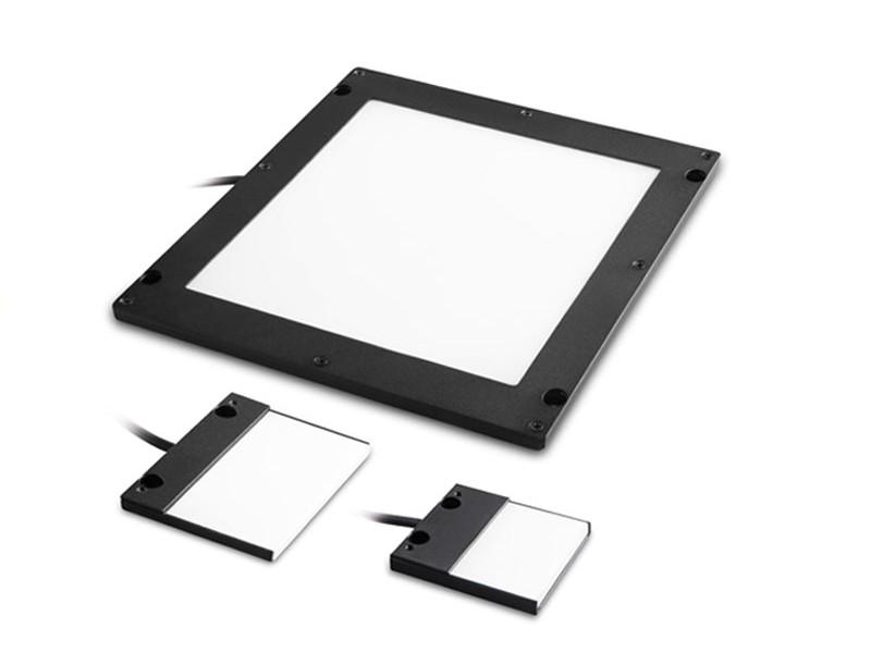 Continuous flat side-emitting LED backlights