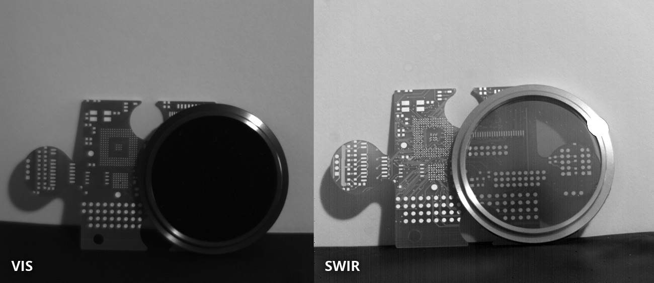 Silicon is transparent in the SWIR waveband. SWIR image taken with Opto E SW05020 lens and ABS GmbH SWIR camera IK1523. Image courtesy of ABS GmbH